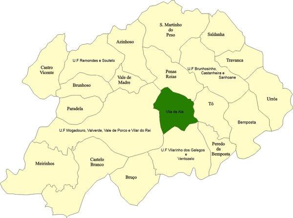 mapa de portugal mogadouro CM Mogadouro / Vila de Ala mapa de portugal mogadouro